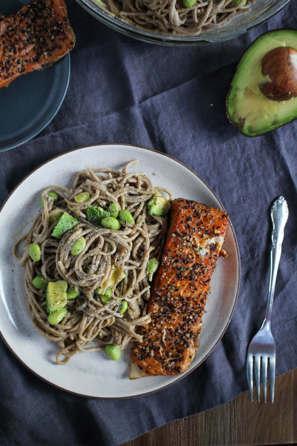 Smoked Salmon Soba Bowl {Katie at the Kitchen Door}