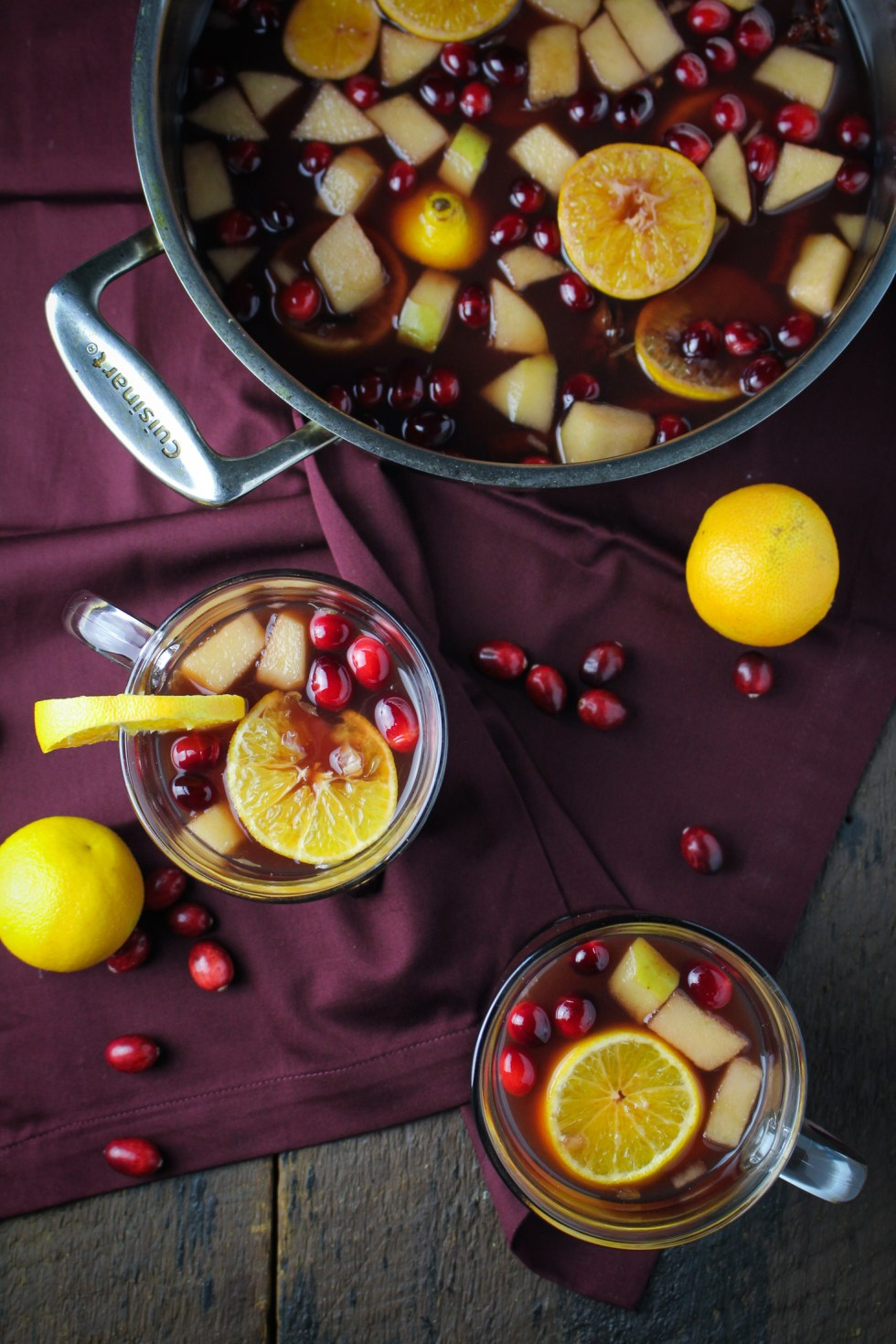 Mulled Spiked Cider with Port and Cranberries {Katie at the Kitchen Door}