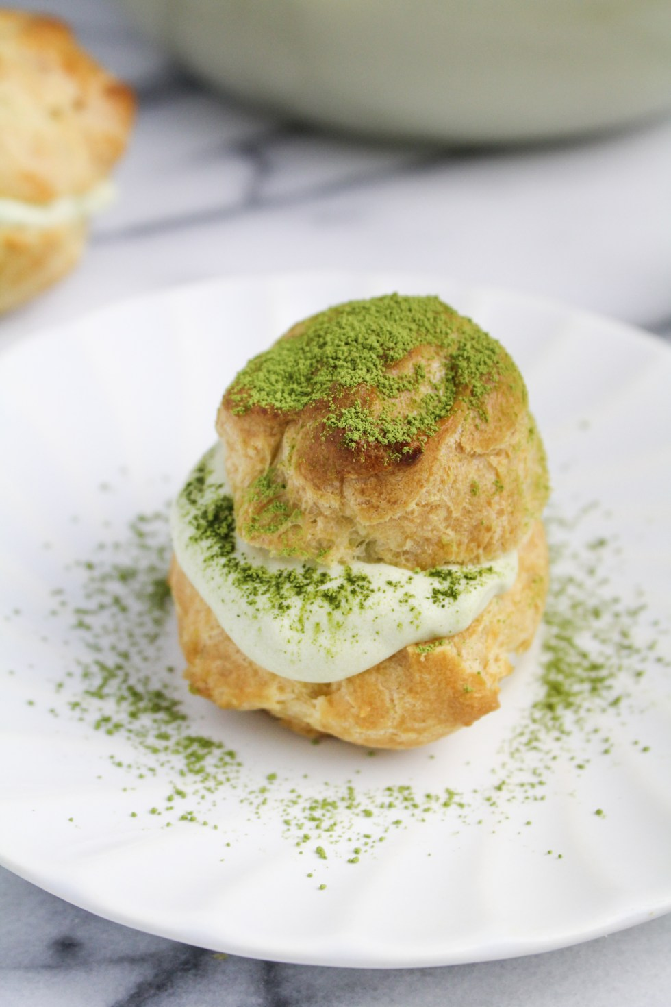 Matcha Cream Puff {Katie at the Kitchen Door}