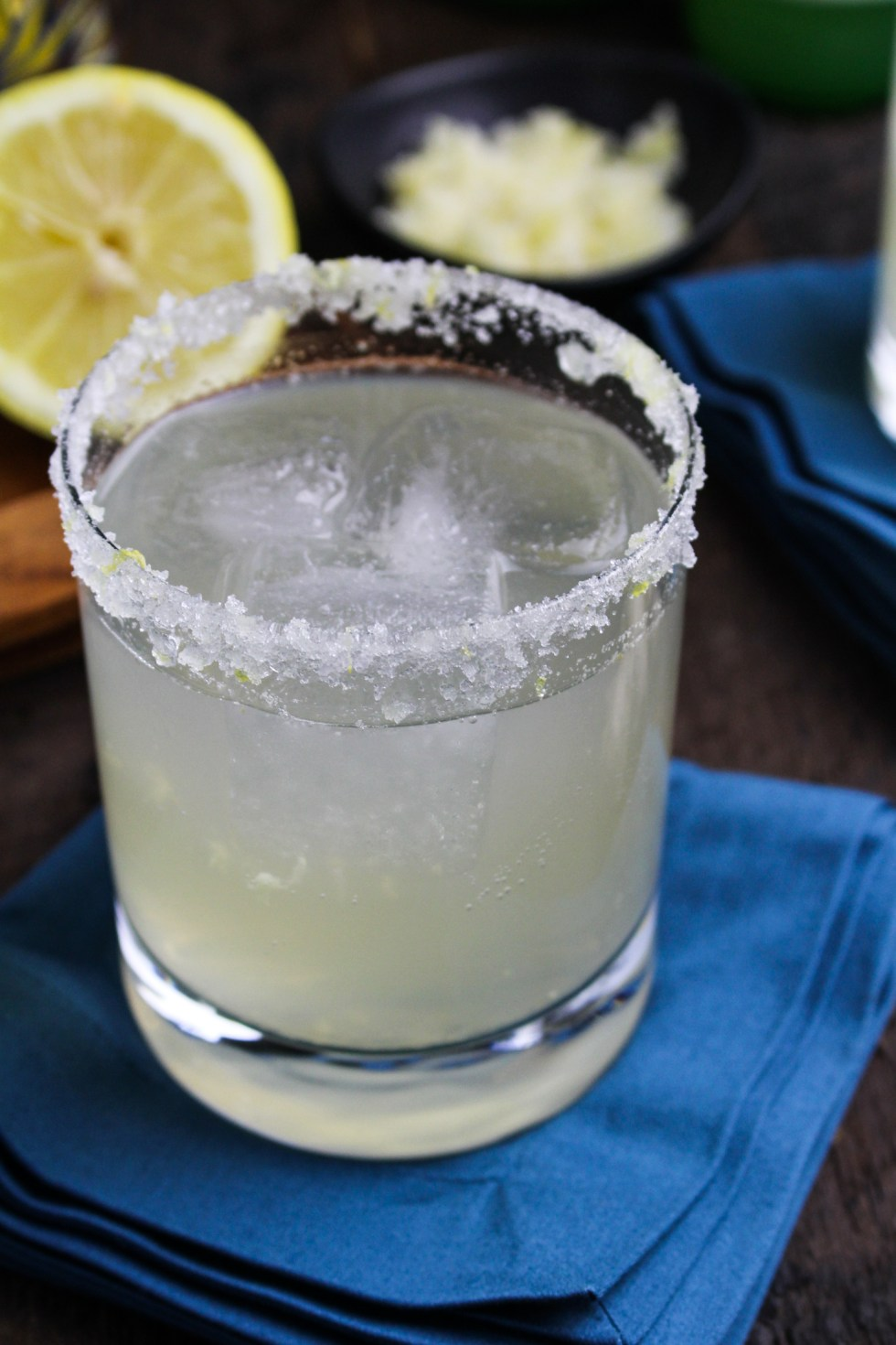 Sparkling Lemongrass-Ginger Margarita {Katie at the Kitchen Door} #MargaritaWeek