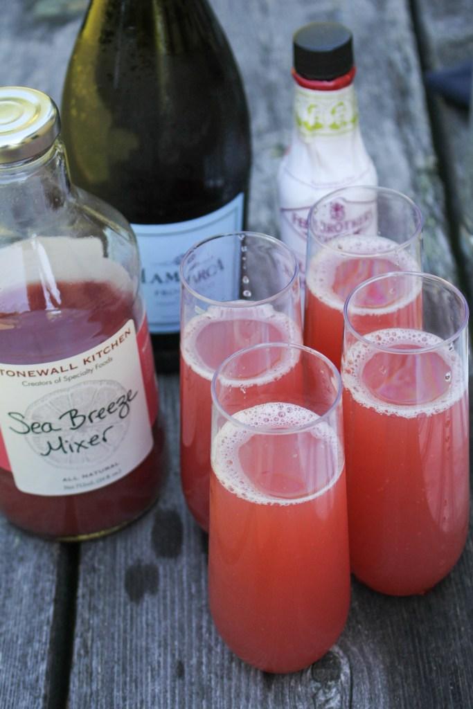 Sea Breeze Mimosas {Katie at the Kitchen Door} #ad