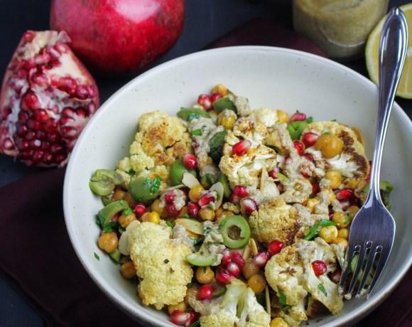 Book Club: Simple // Roast Cauliflower and Chickpea Salad