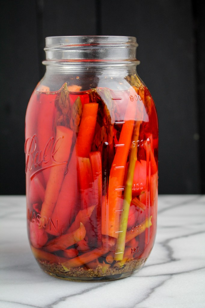 Spring Pickles - Asparagus, Carrot, Radish, and Swiss Chard {Katie at the Kitchen Door}