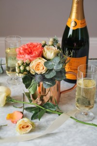 DIY Wedding Flowers: Garden Roses, Spray Roses, Eucalyptus, Hypericum {Katie at the Kitchen Door}