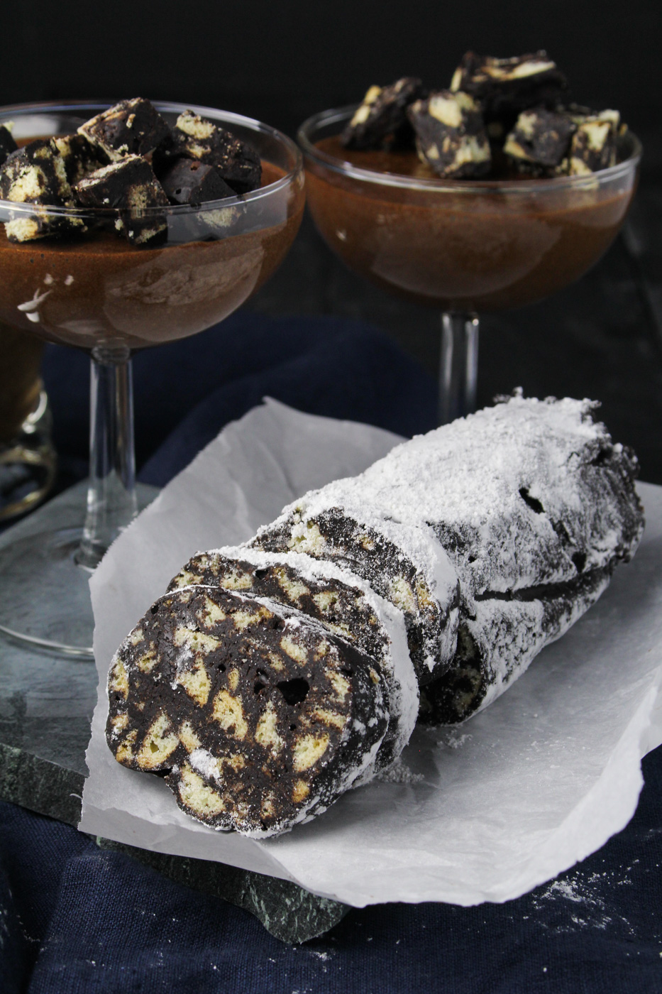 Portuguese Chocolate Salami {Katie at the Kitchen Door}