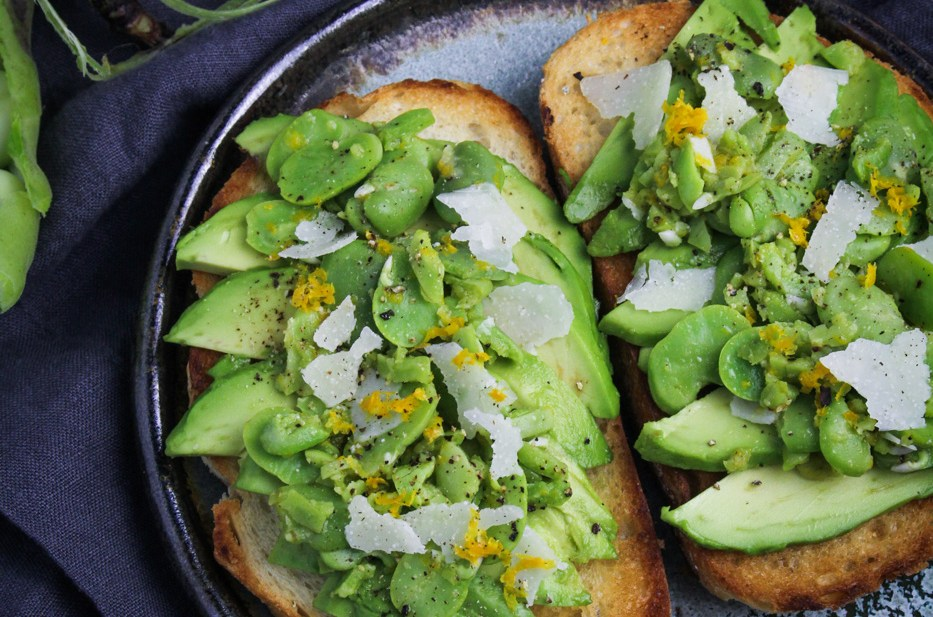 Ingredient of the Week: Fava Beans // Avocado Toast with Fava Beans and Pecorino
