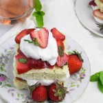 Strawberries and Cream Chiffon Cakes - a French take on classic Strawberry Shortcake {Katie at the Kitchen Door}