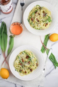 Ramp Carbonara {Katie at the Kitchen Door}