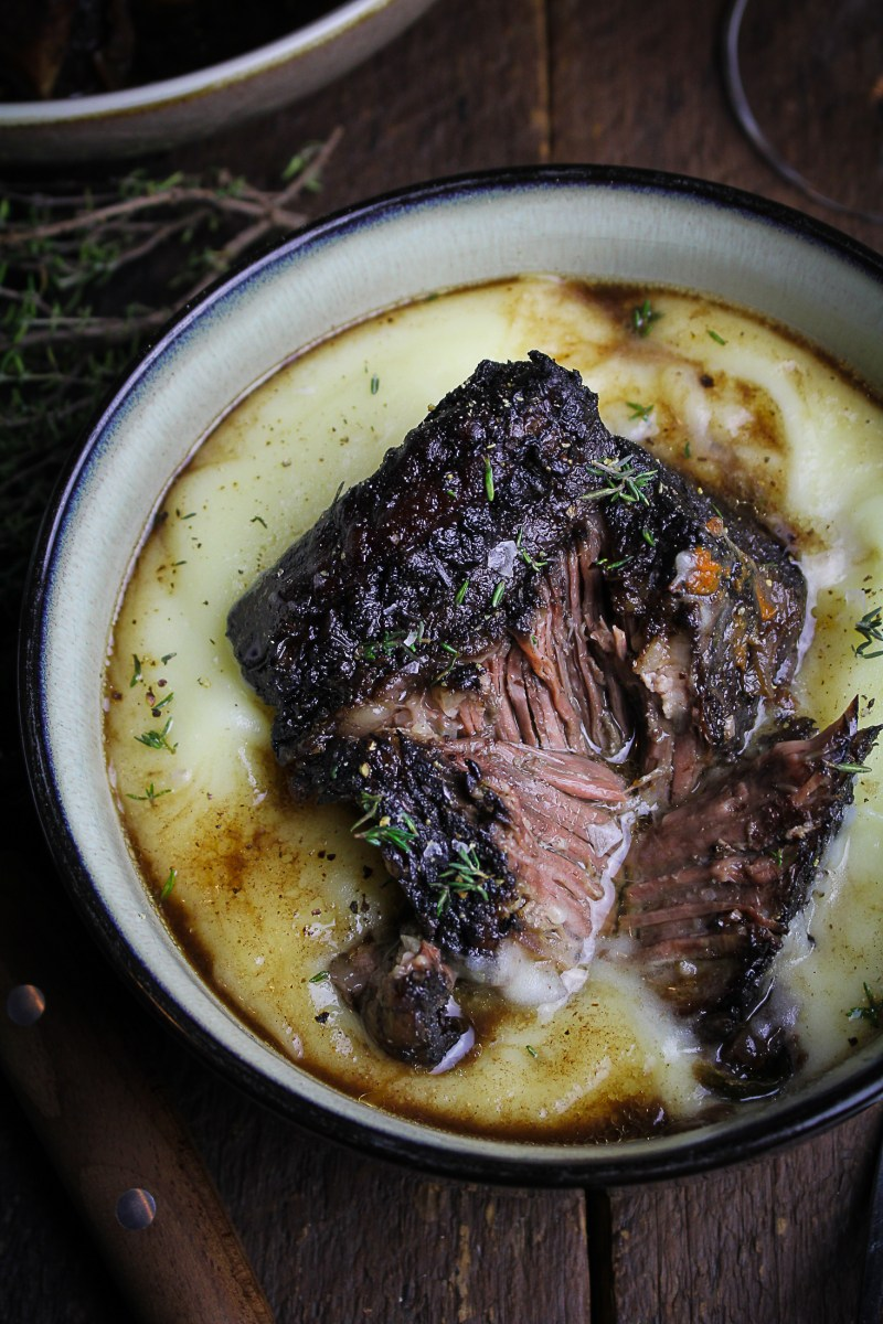 Classic Red Wine-Braised Beef Short Ribs {Katie at the Kitchen Door}