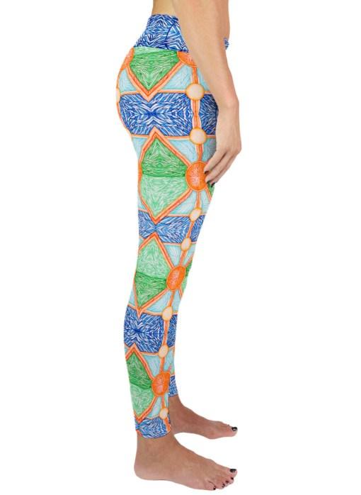 colorful yoga legging