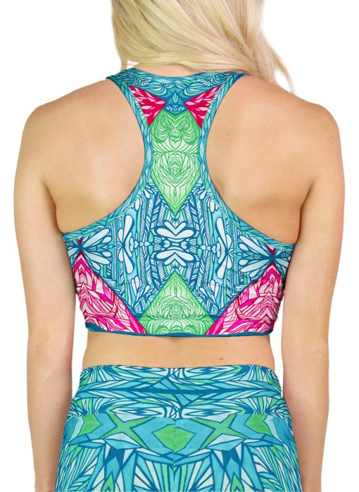 pattern yoga crop top