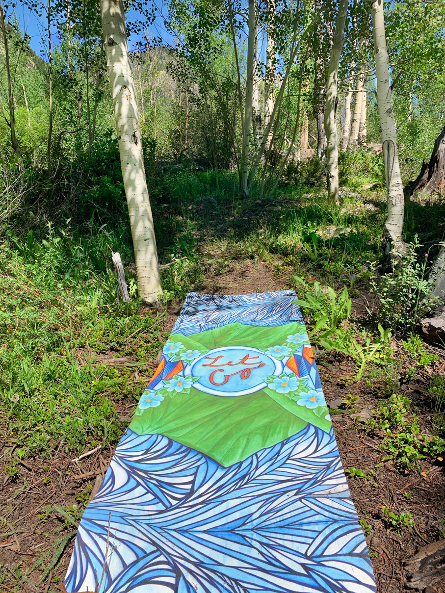 colorful art yoga mat