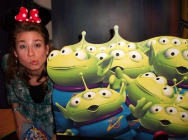 Picture of me with little aliens