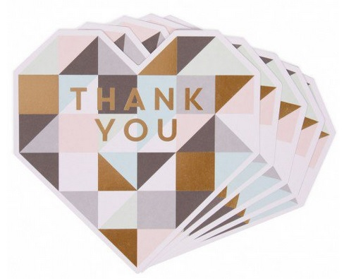 Paperchase Geo wedding thank you cards stationery