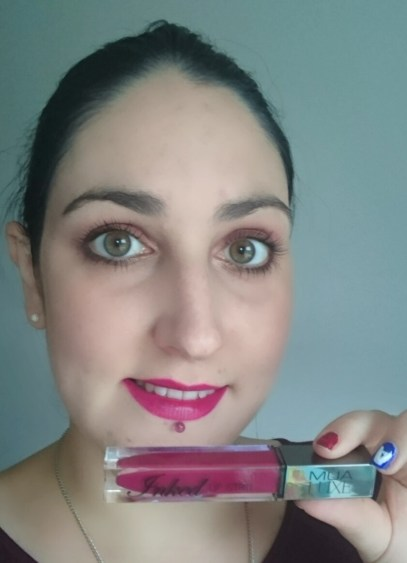 MUA Luxe Inked Lip Stain in Sangria on lips Review and Swatches