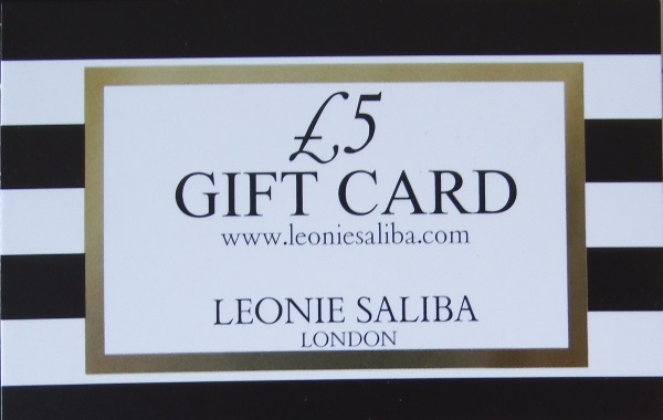 You Beauty August 2016 Review and Unboxing Leonie Salba Gift Card