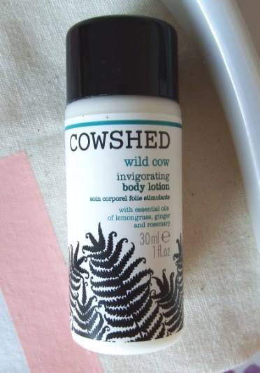 Glossybox August 2016 Review and Unboxing Cowshed Wild Cow Invigorating Body Lotion