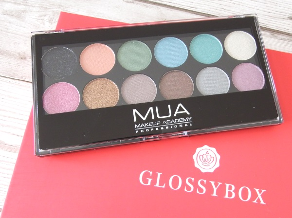 Glossybox September 2016 Review and Unboxing MUA Glitter Ball palette