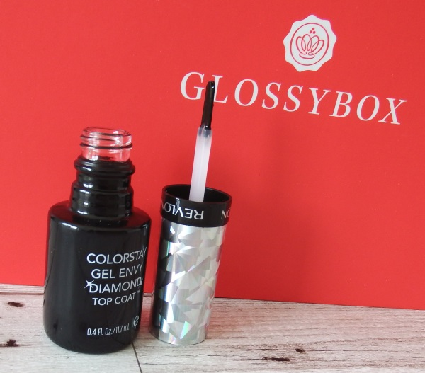 Glossybox September 2016 Review and Unboxing Revlon Gel Envy Diamond Top Coat Nail Varnish