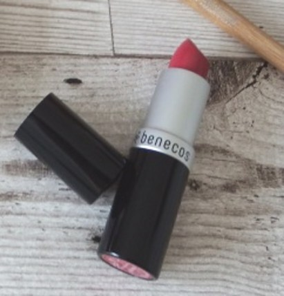 Benecos Natural Lipstick in Pink Rose Reviews and Swatches
