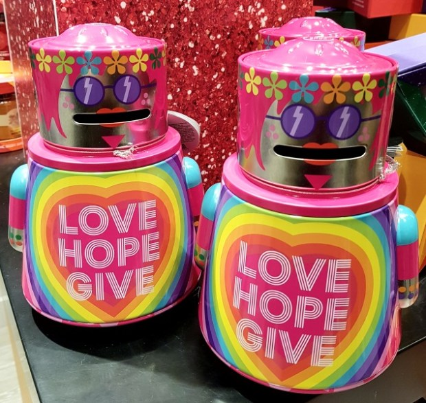 Two The Body Shop Robot Money Box Gifts