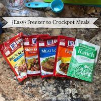 6 {Easy} Freezer to Crockpot Meals