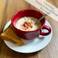 Crock Pot Potato and Bacon Soup {For One}