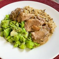 Crock Pot Ranch Pork Chops {for One}