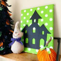 Dollar Tree Halloween Cutout Canvas
