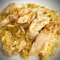 Crock Pot Chicken and Rice {For One}