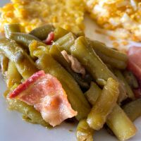 Smothered Green Beans with Bacon