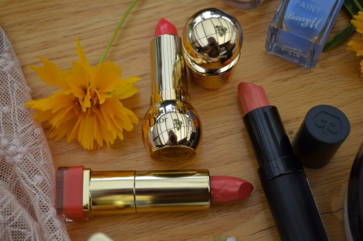 Summer Skincare, Makeup and Fashion Essentials - Coral Lipsticks