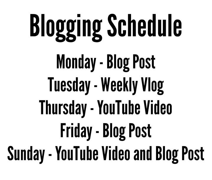 Blogging Schedule | KatieEmmaBeauty