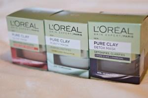 New | L'Oreal Pure Clay Masks