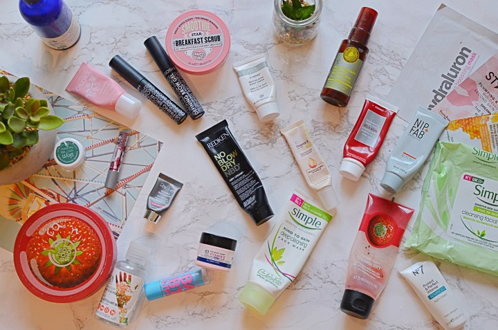Makeup, skincare and haircare empties