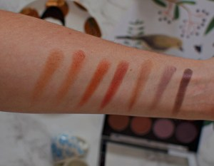 Nip + Fab Eyeshadow Palette in Fired Up Swatches