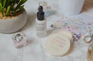 Collection Gorgeous Glow Holographic Highlighter Loose Powder and Gorgeous Glow Liquid Highlighter Drops
