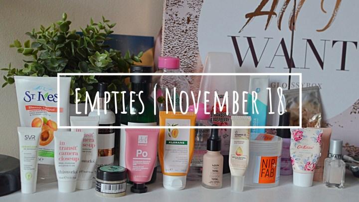 Empties | November 18