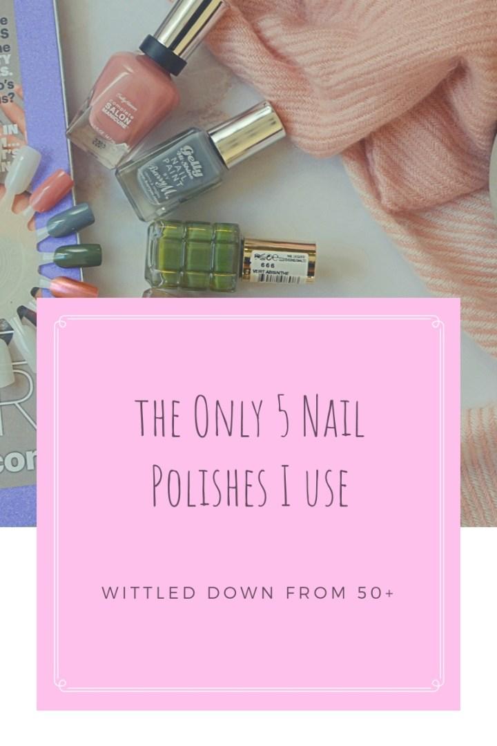 5 Nail Polishes