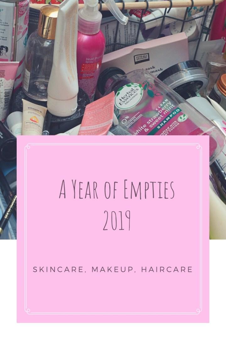 2019 empties skincare haircare makeup