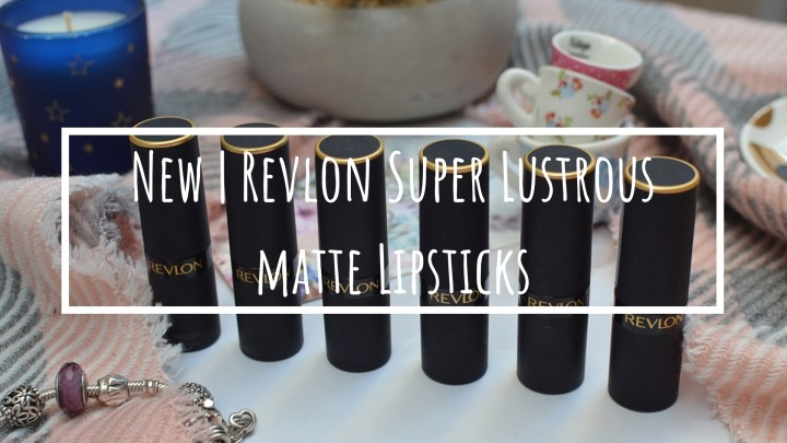 New | Revlon Super Lustrous Matte Lipsticks
