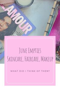 Empties Makeup Skincare Haircare