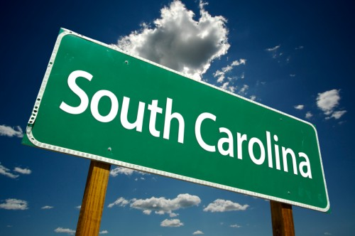 South Carolina Road Sign