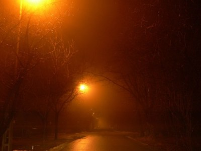hazy street