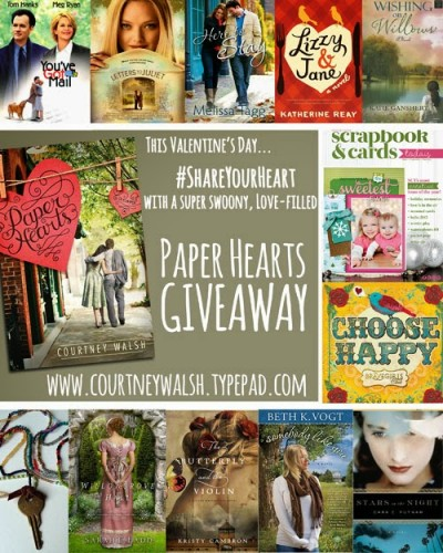 paper heart giveaway