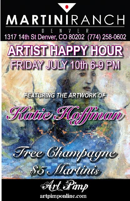 July martini poster w-o