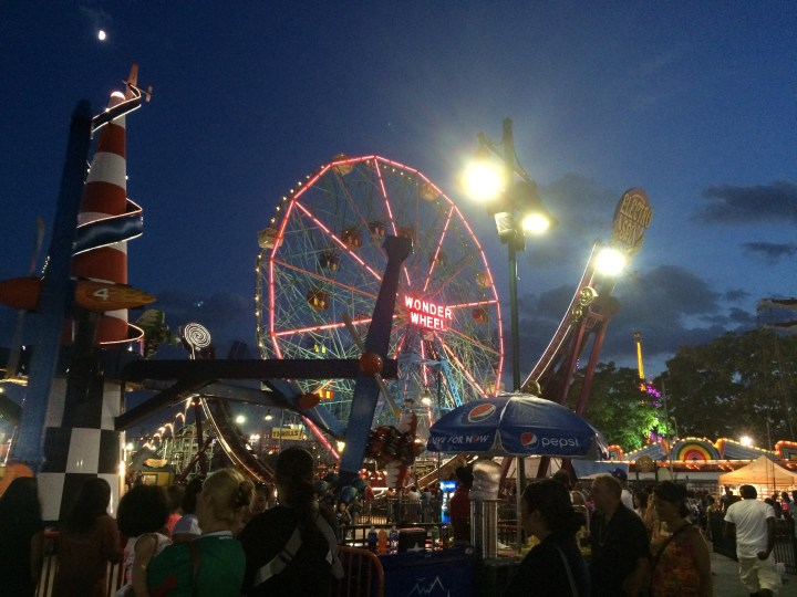 Coney at night - every Friday in the summer they have a huge fireworks display