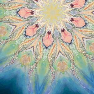 Blue Vulva Mandala