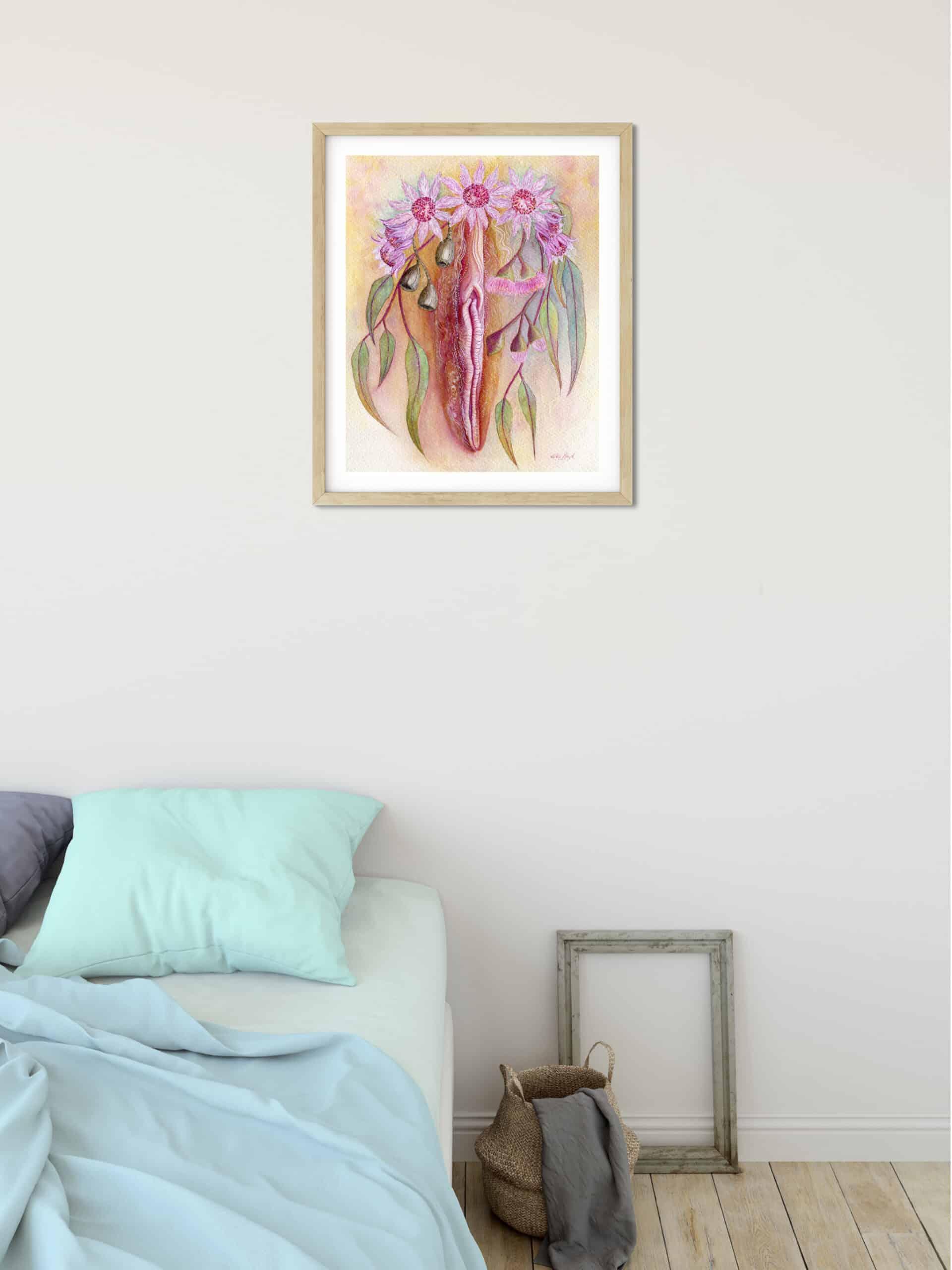 Life blossoms framed wall