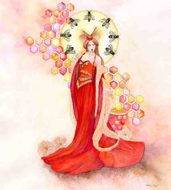 Honey Bee Queen Goddess